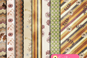 Printable Fall Scrapbook Paper Kit