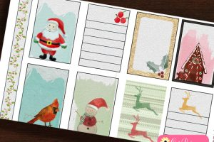Free Printable Watercolor Christmas Stickers for Classic Happy Planner