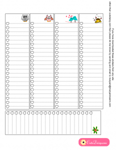 Free Printable lists for happy planner's sidebar